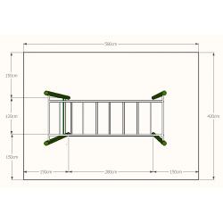 LE.ST.045 Horizontálny rebrík